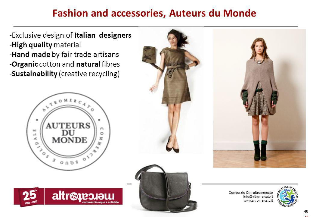 Fashion and accessories, Auteurs du Monde
