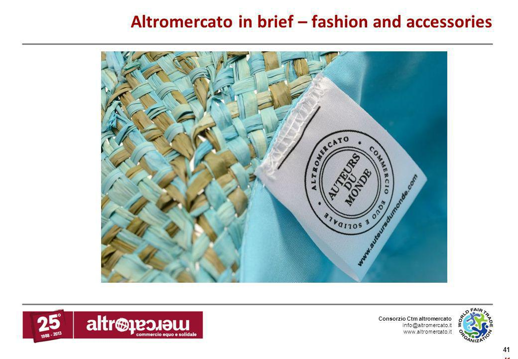 Altromercato in brief – fashion and accessories