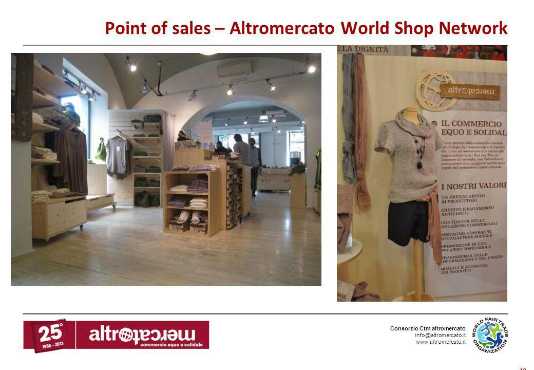 Point of sales – Altromercato World Shop Network