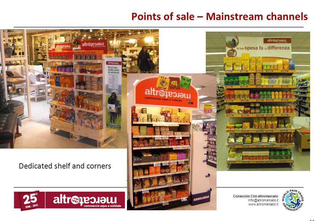 Points of sale – Mainstream channels