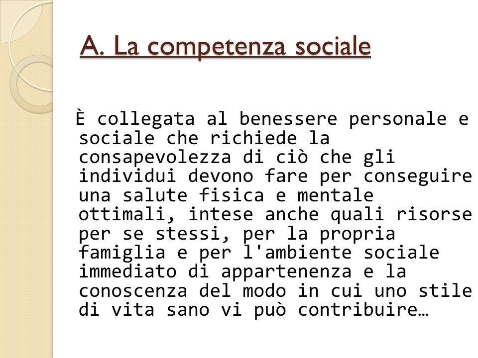 A. La competenza sociale