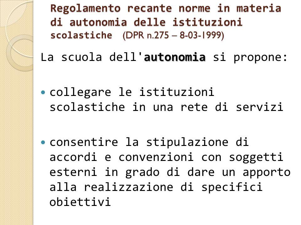 La scuola dell autonomia si propone:
