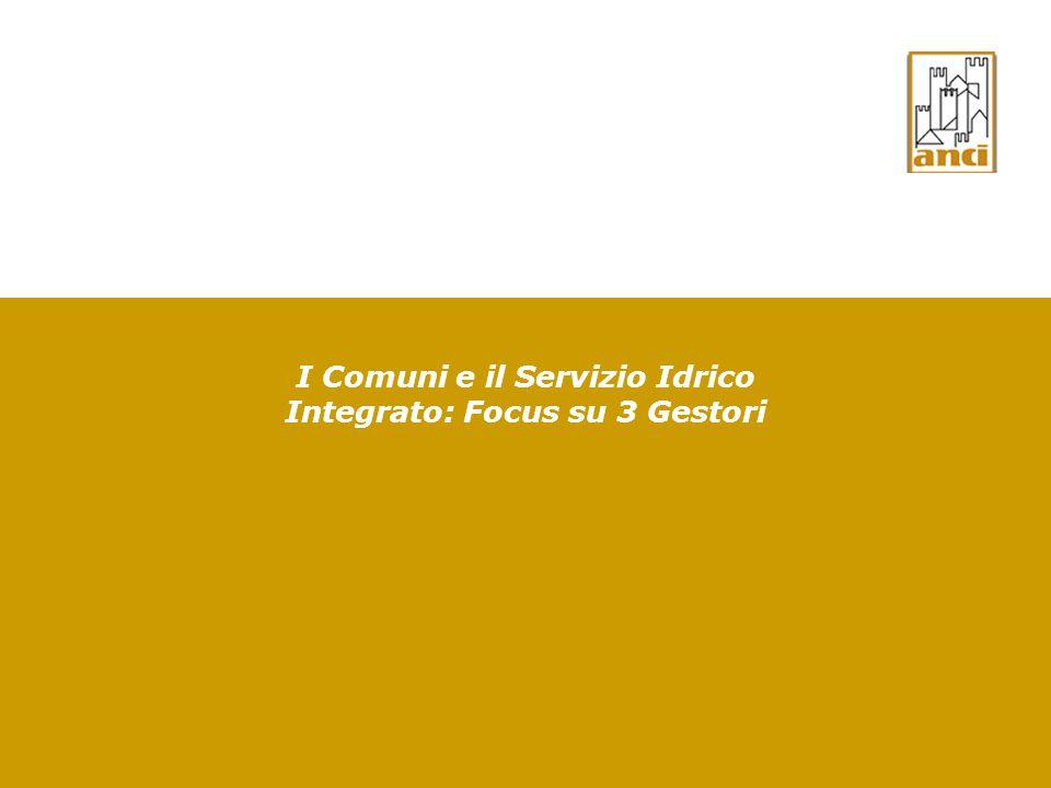 I Comuni e il Servizio Idrico Integrato: Focus su 3 Gestori