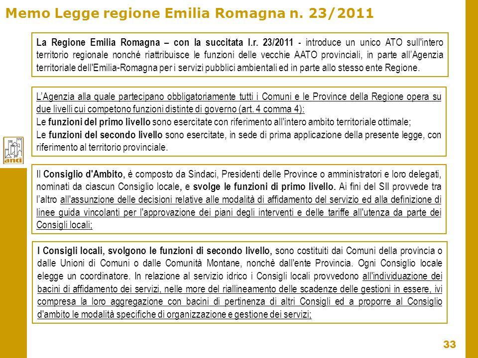 Memo Legge regione Emilia Romagna n. 23/2011