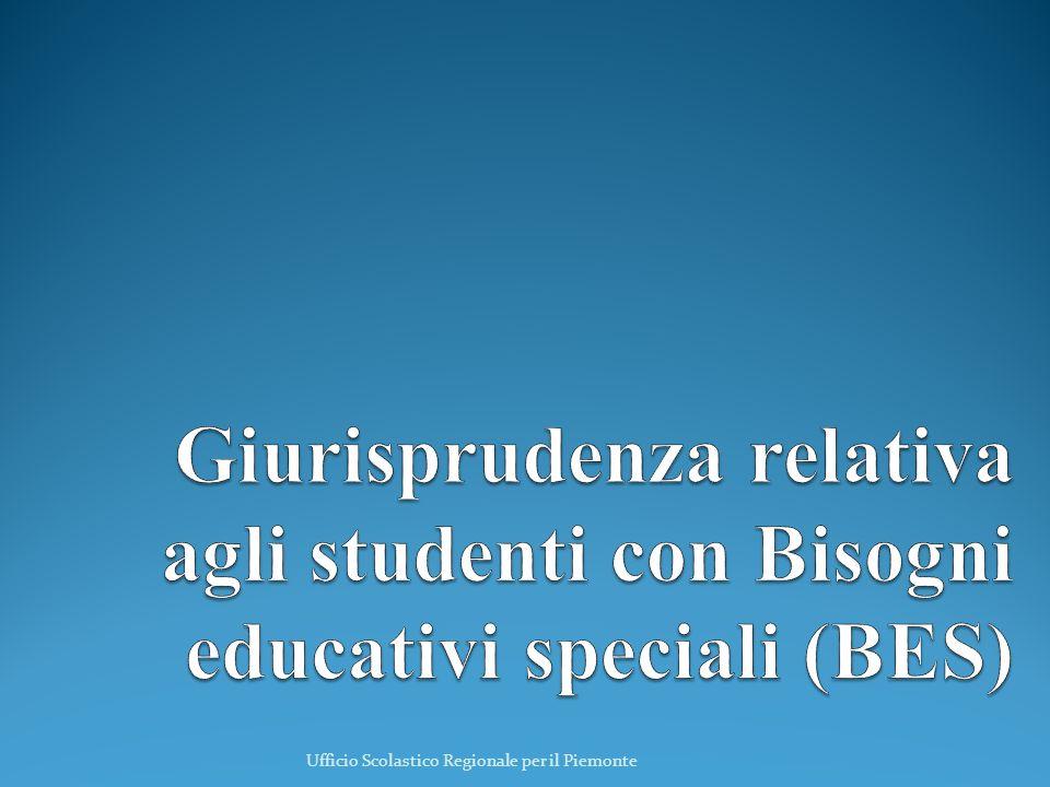 Giurisprudenza relativa agli studenti con Bisogni educativi speciali (BES)