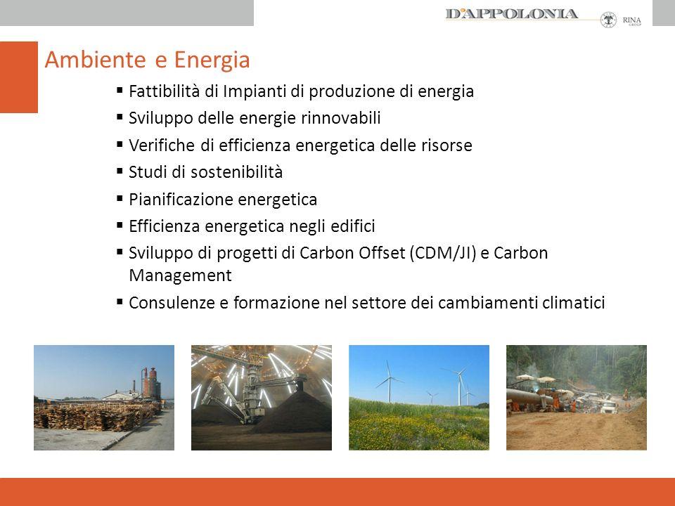 Ambiente e Energia Fattibilità di Impianti di produzione di energia