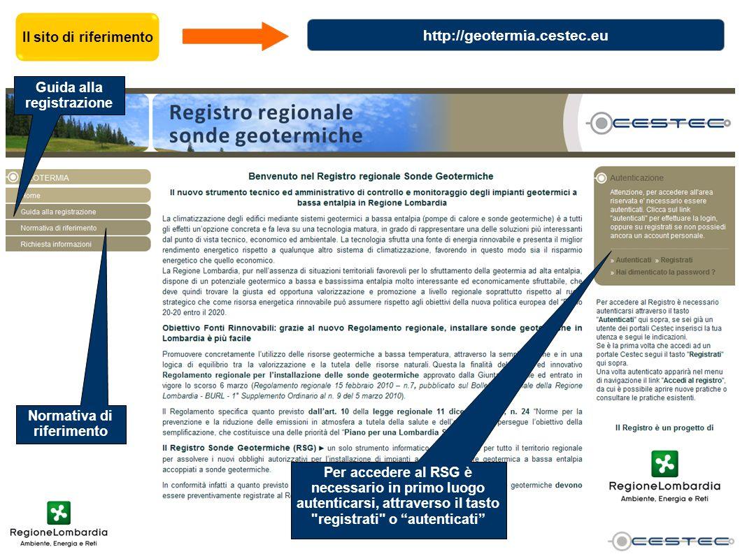 Guida alla registrazione Normativa di riferimento