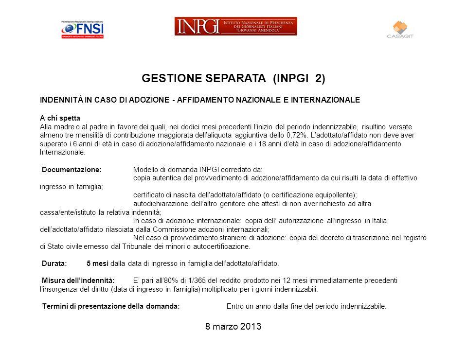 GESTIONE SEPARATA (INPGI 2)