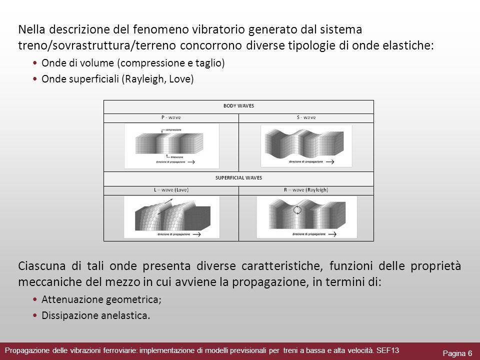 Nella descrizione del fenomeno vibratorio generato dal sistema treno/sovrastruttura/terreno concorrono diverse tipologie di onde elastiche:
