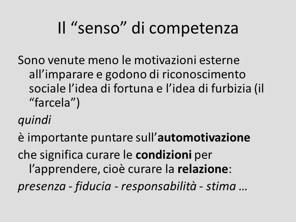 Il senso di competenza