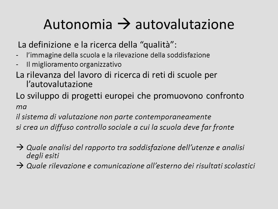 Autonomia  autovalutazione
