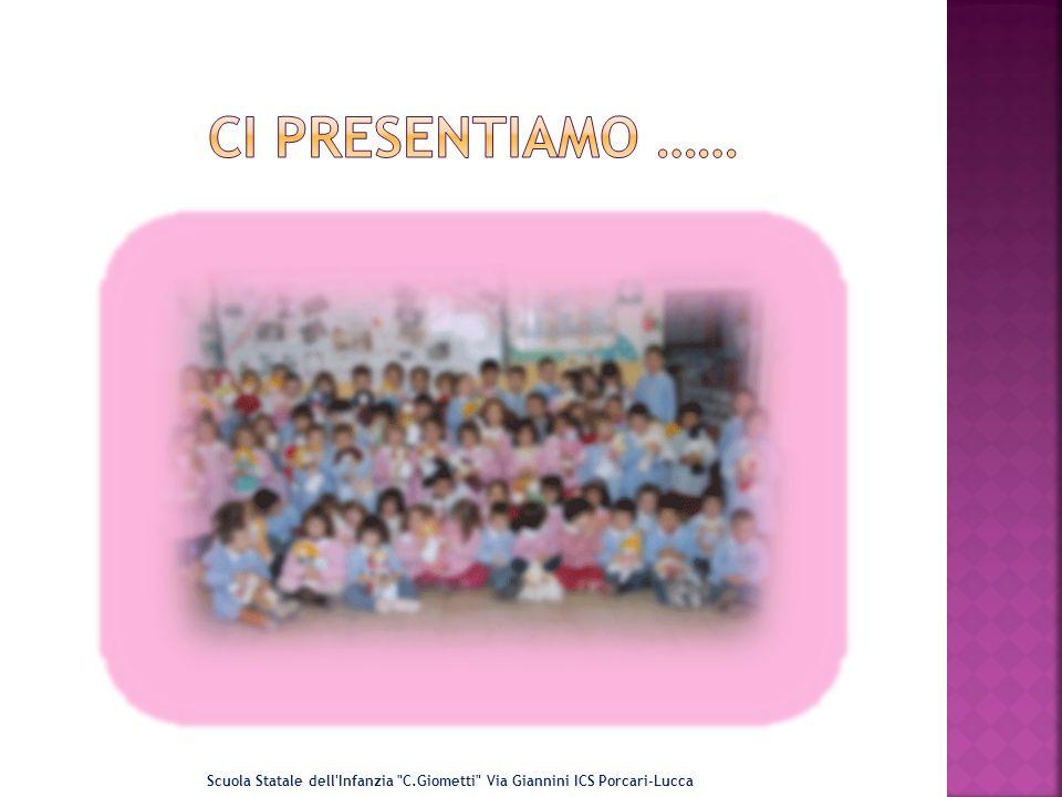 Ci Presentiamo …… Scuola Statale dell Infanzia C.Giometti Via Giannini ICS Porcari-Lucca