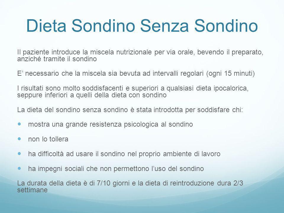 Dieta Sondino Senza Sondino