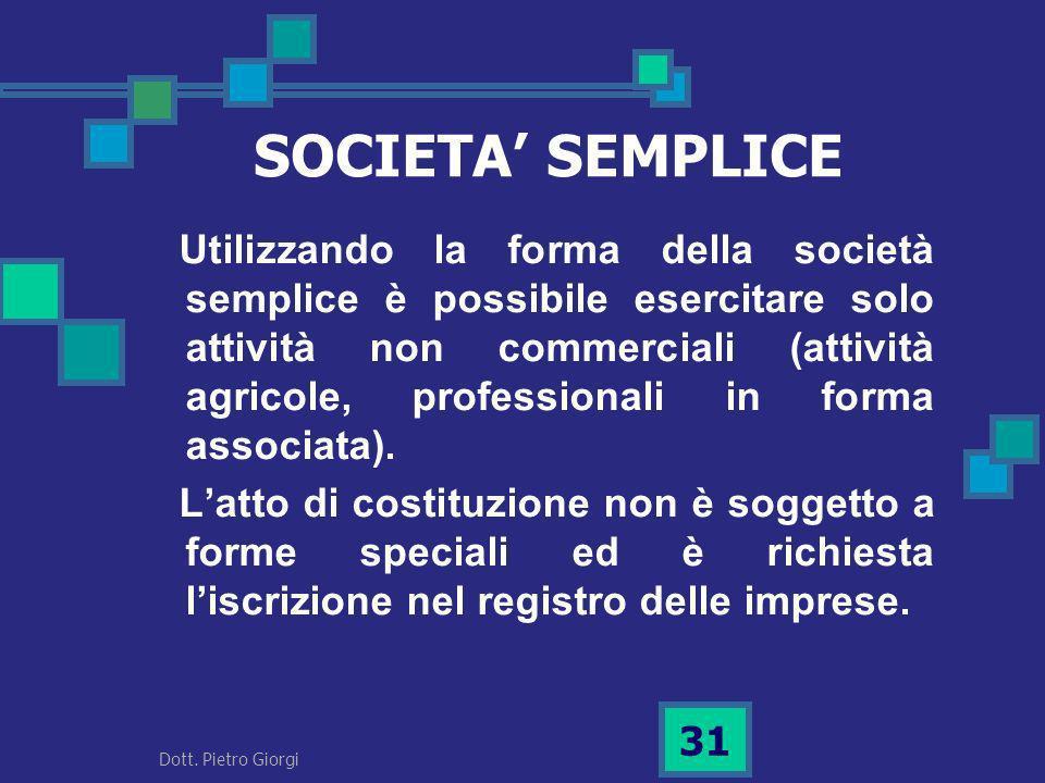 SOCIETA' SEMPLICE