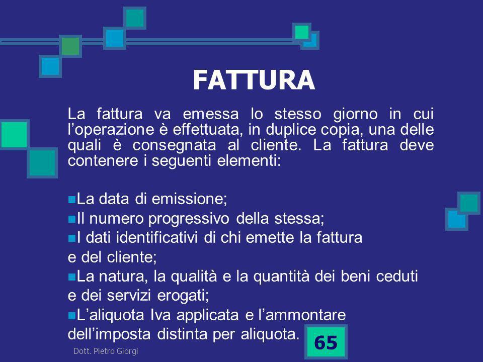 FATTURA