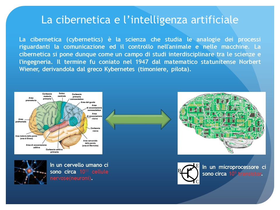 La cibernetica e l'intelligenza artificiale