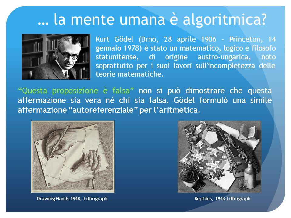 … la mente umana è algoritmica