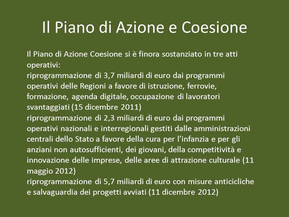 Il Piano di Azione e Coesione