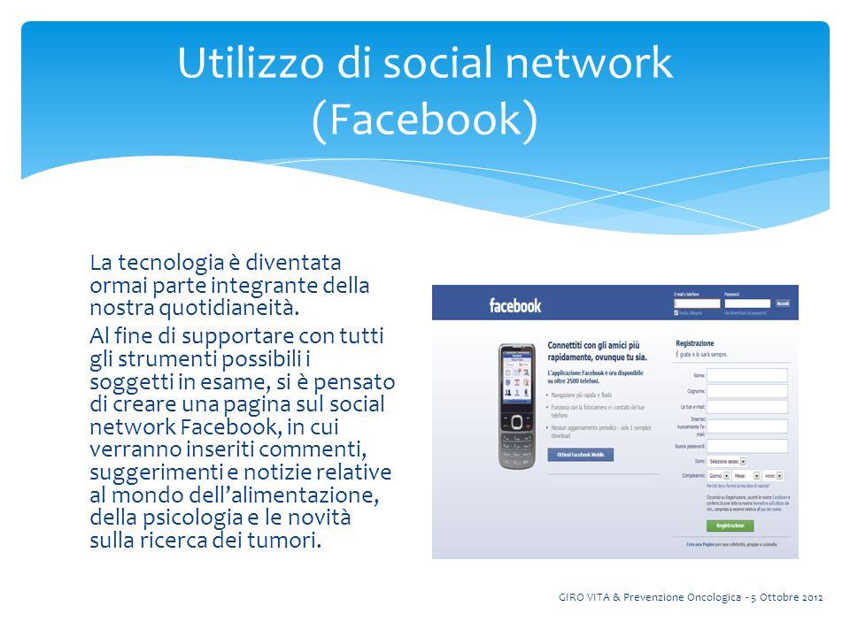 Utilizzo di social network (Facebook)