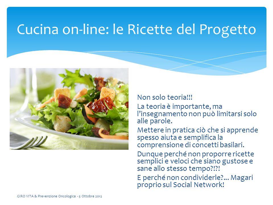 Cucina on-line: le Ricette del Progetto