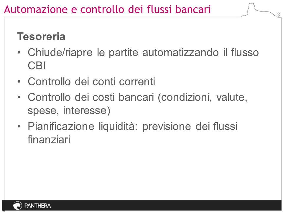 Automazione e controllo dei flussi bancari