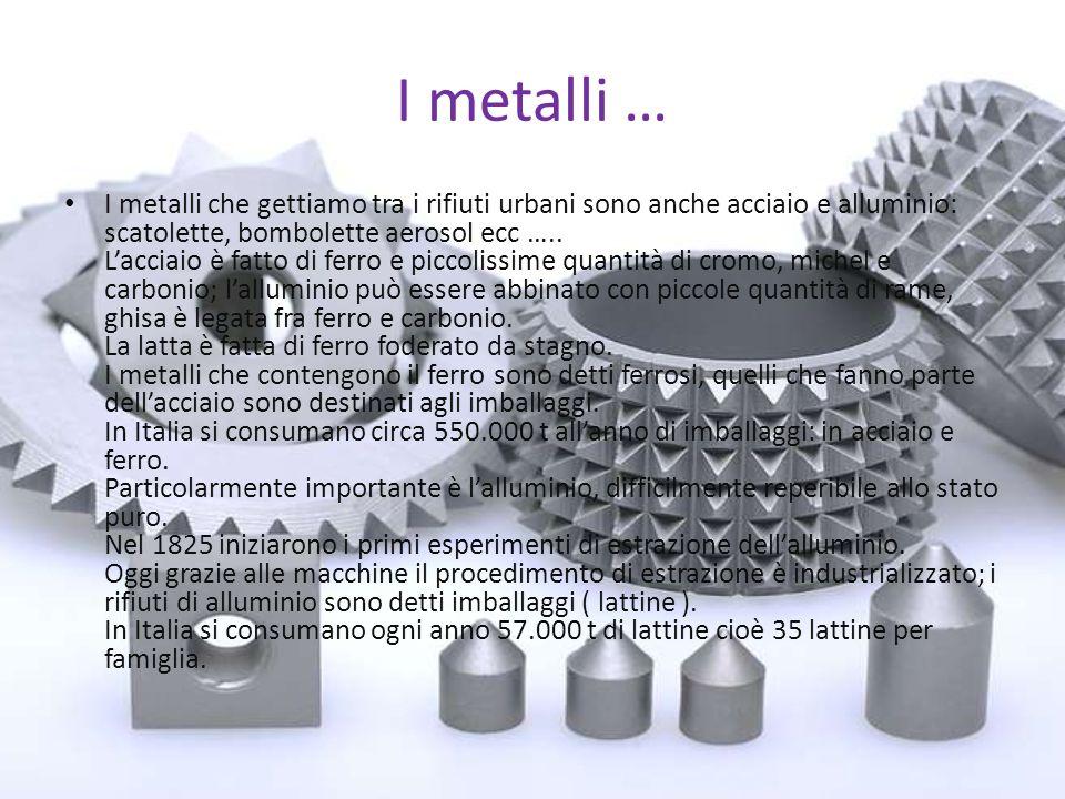 I metalli …