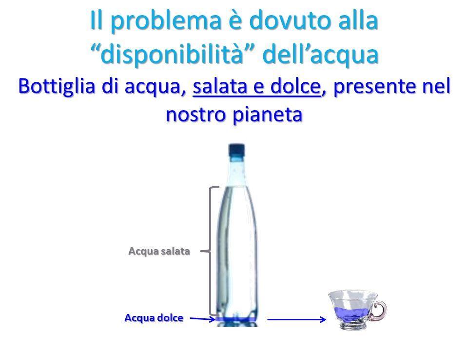 Il problema è dovuto alla disponibilità dell'acqua