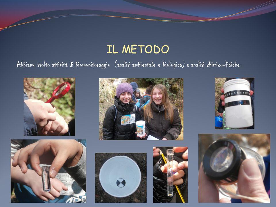 IL METODO Abbiamo svolto attività di biomonitoraggio (analisi ambientale e biologica) e analisi chimico-fisiche.