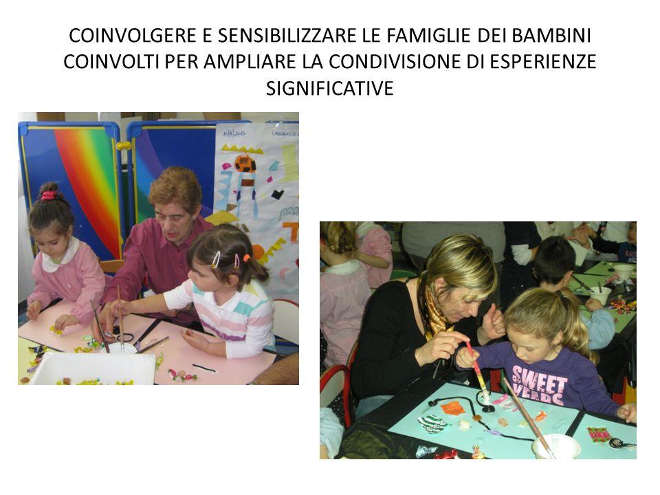 COINVOLGERE E SENSIBILIZZARE LE FAMIGLIE DEI BAMBINI COINVOLTI PER AMPLIARE LA CONDIVISIONE DI ESPERIENZE SIGNIFICATIVE