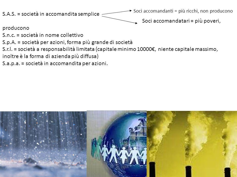 S.A.S. = società in accomandita semplice