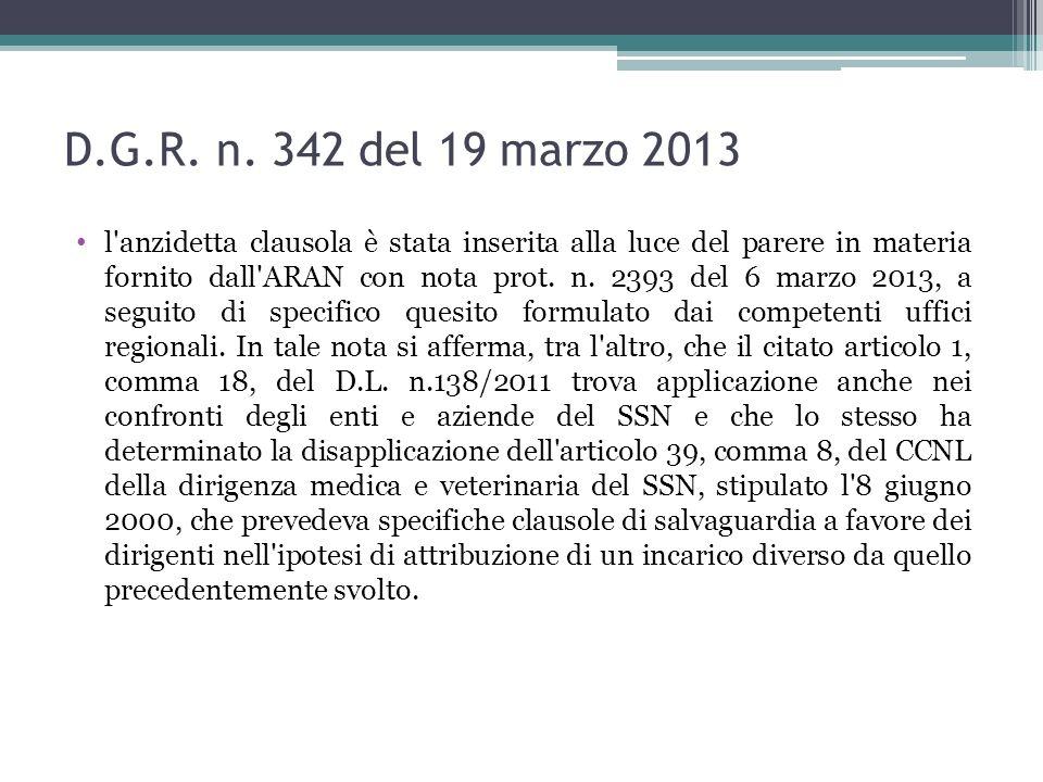 D.G.R. n. 342 del 19 marzo 2013