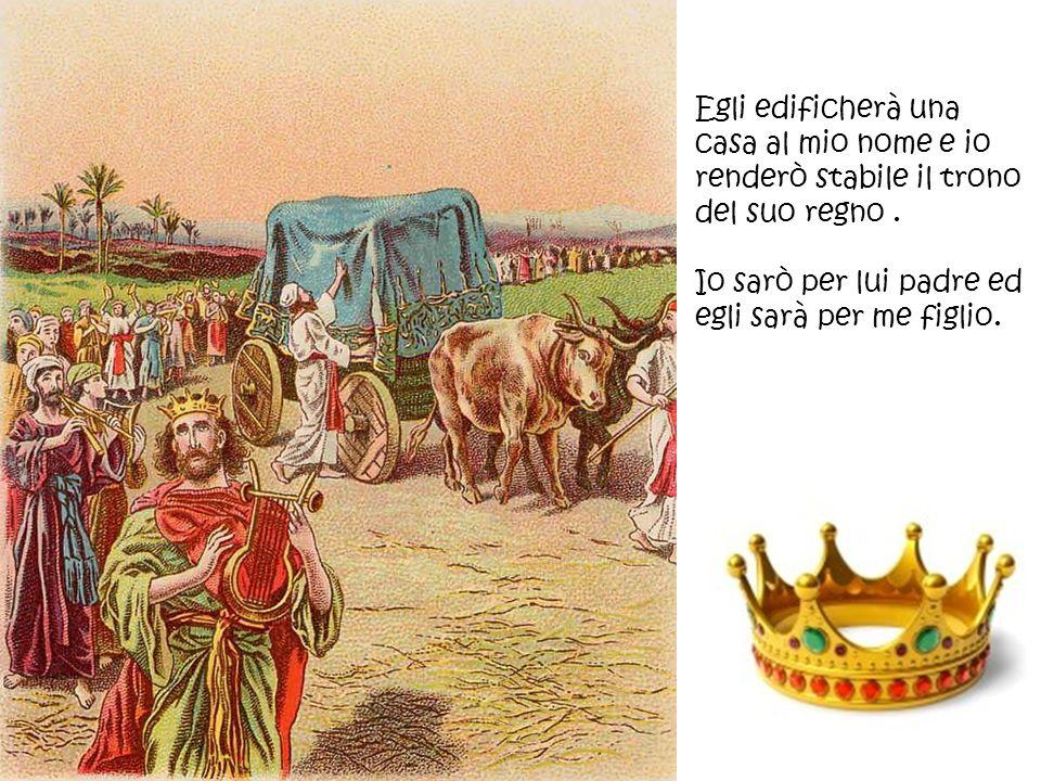Egli edificherà una casa al mio nome e io renderò stabile il trono del suo regno .