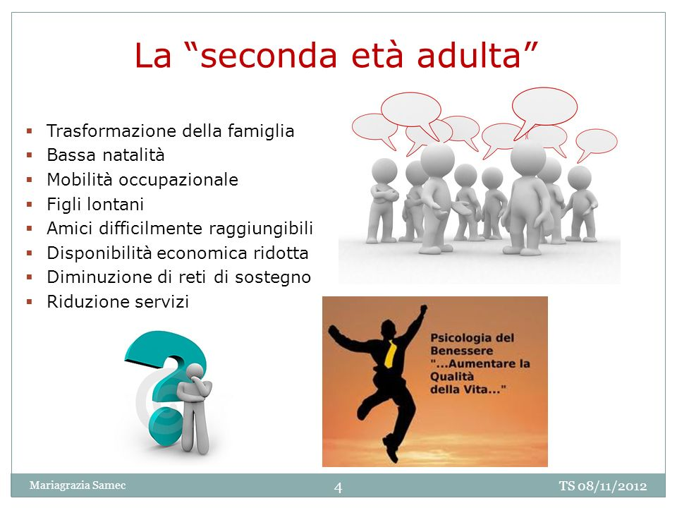 La seconda età adulta