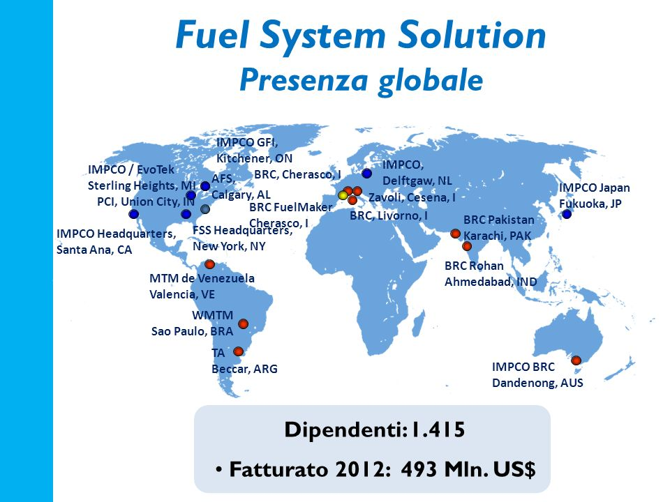 Fuel System Solution Presenza globale