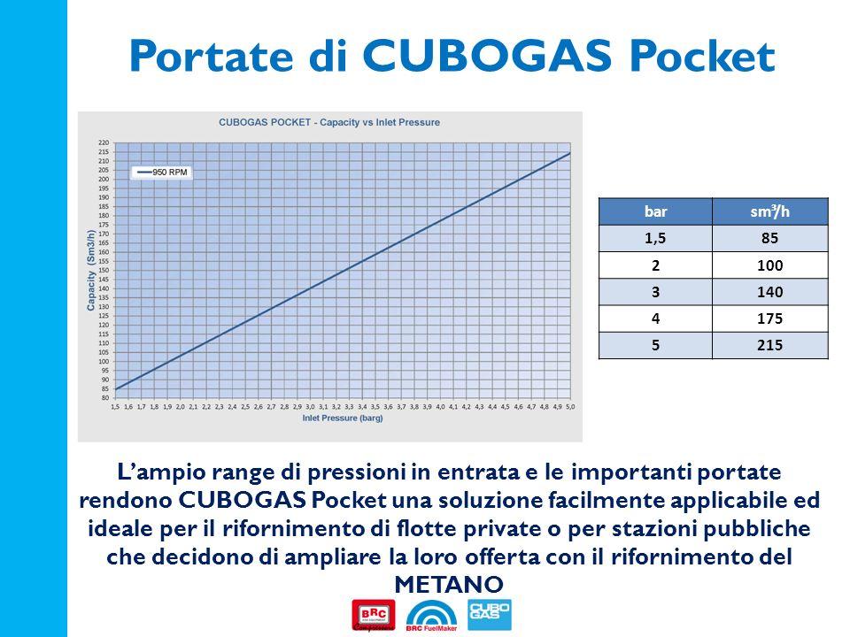 Portate di CUBOGAS Pocket