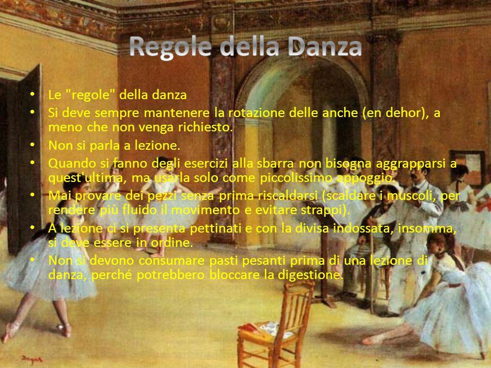 Regole della Danza Le regole della danza