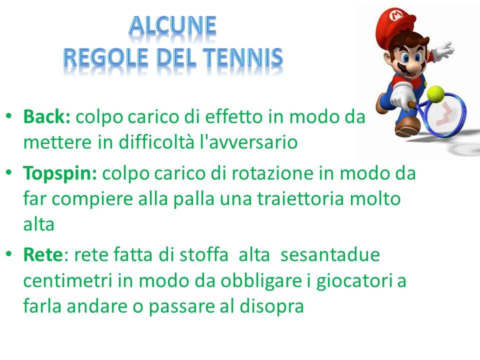 Alcune Regole del Tennis
