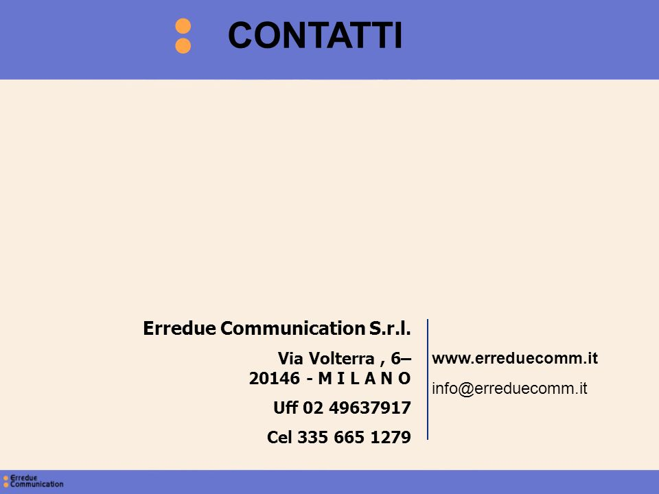 CONTATTI Erredue Communication S.r.l.