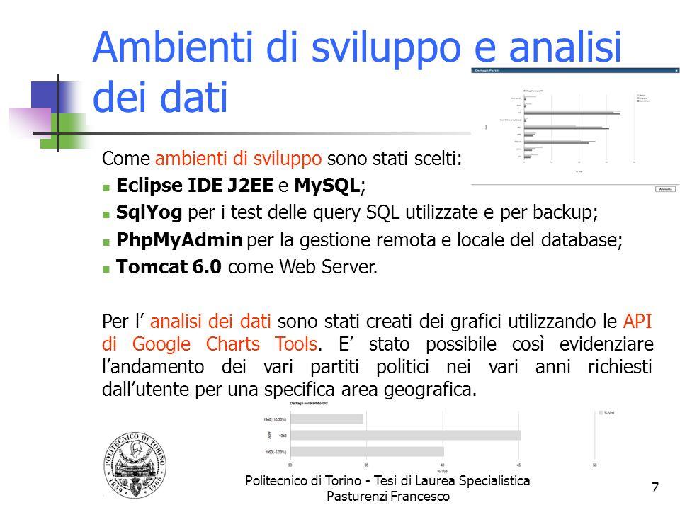 Ambienti di sviluppo e analisi dei dati