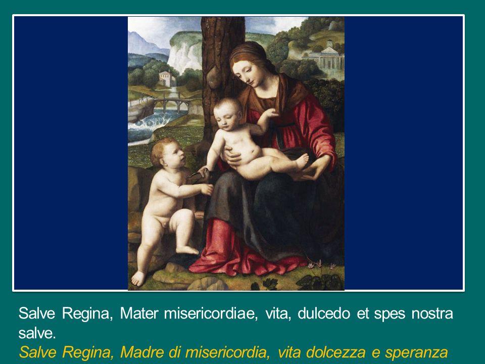 Salve Regina, Mater misericordiae, vita, dulcedo et spes nostra salve.