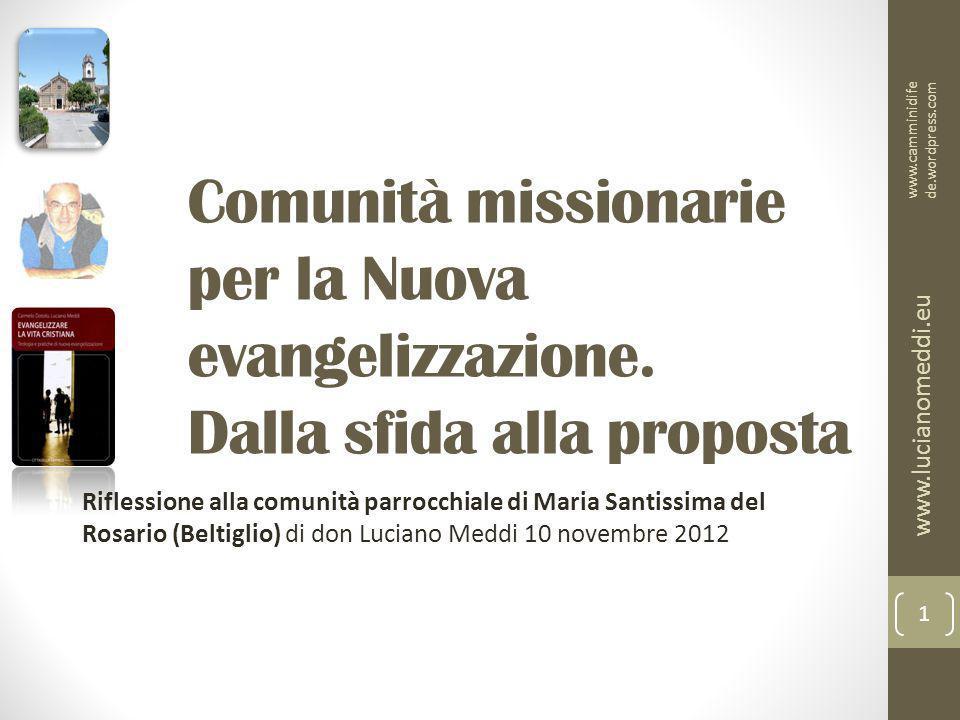 Comunità missionarie per la Nuova evangelizzazione