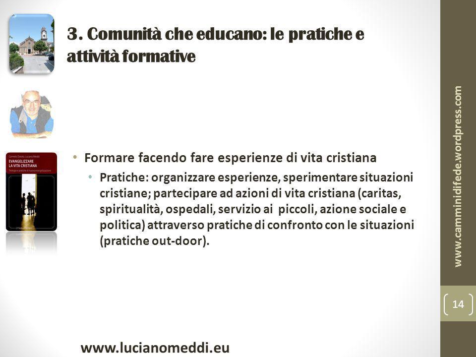 3. Comunità che educano: le pratiche e attività formative