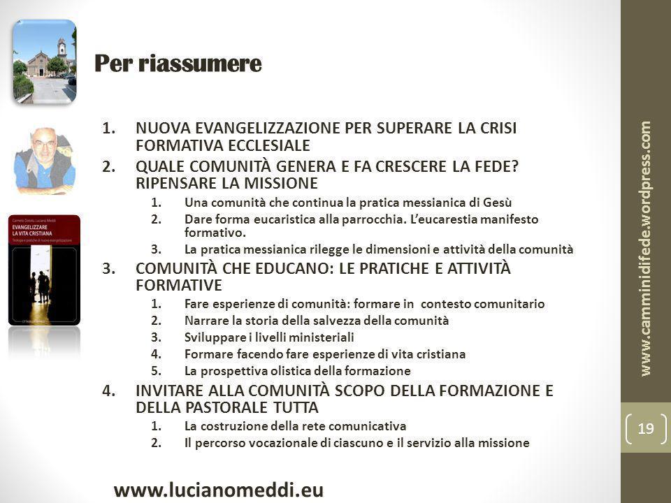 Per riassumere www.lucianomeddi.eu