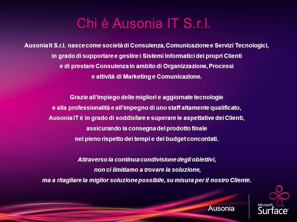 Chi è Ausonia IT S.r.l. Ausonia