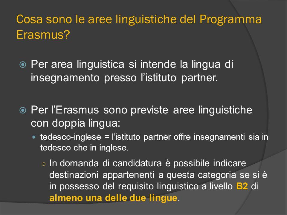 Cosa sono le aree linguistiche del Programma Erasmus