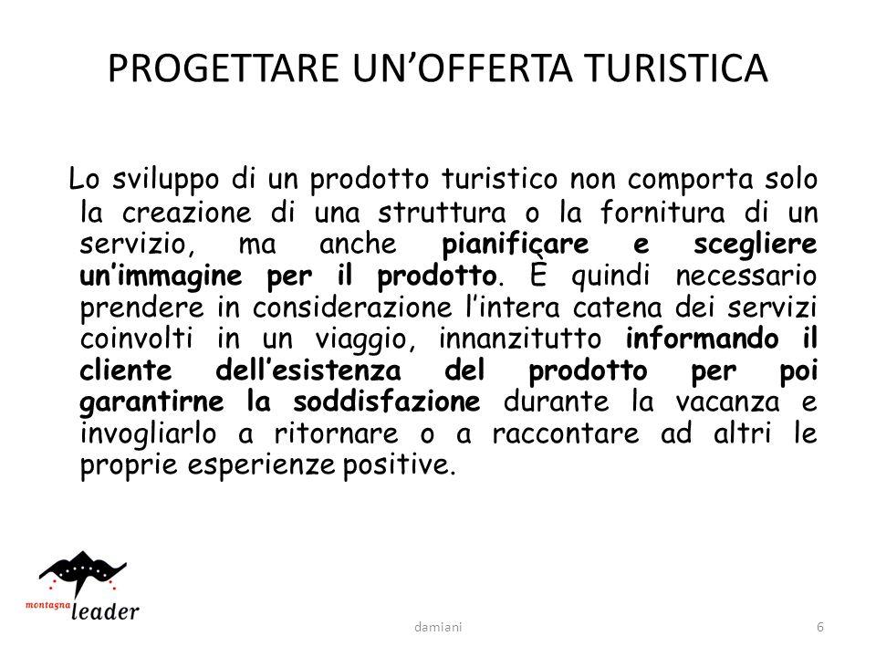 PROGETTARE UN'OFFERTA TURISTICA