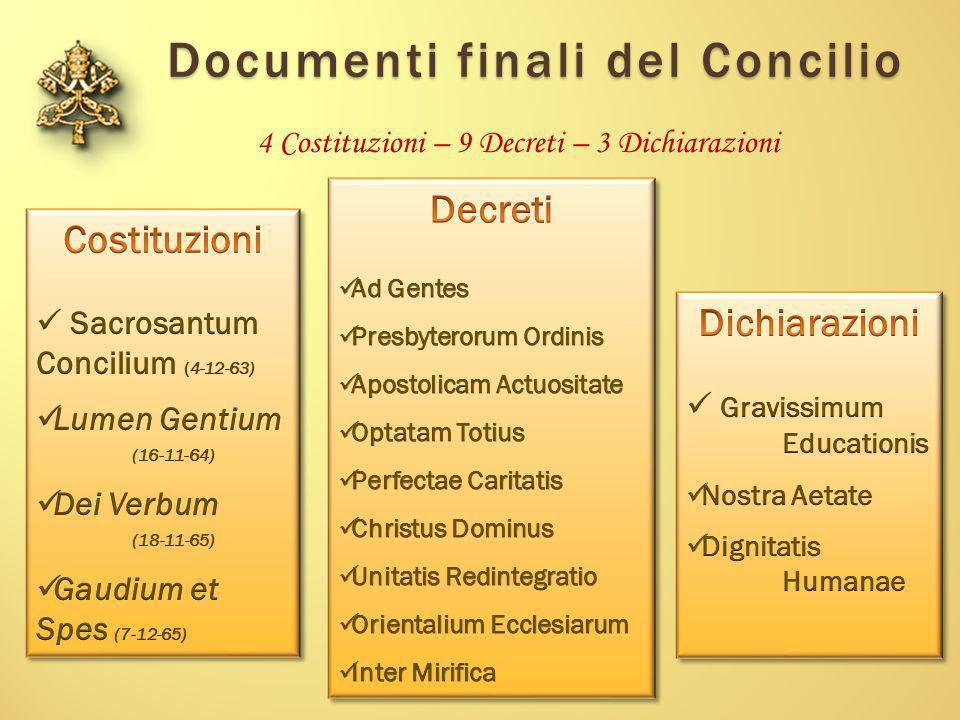 Documenti finali del Concilio