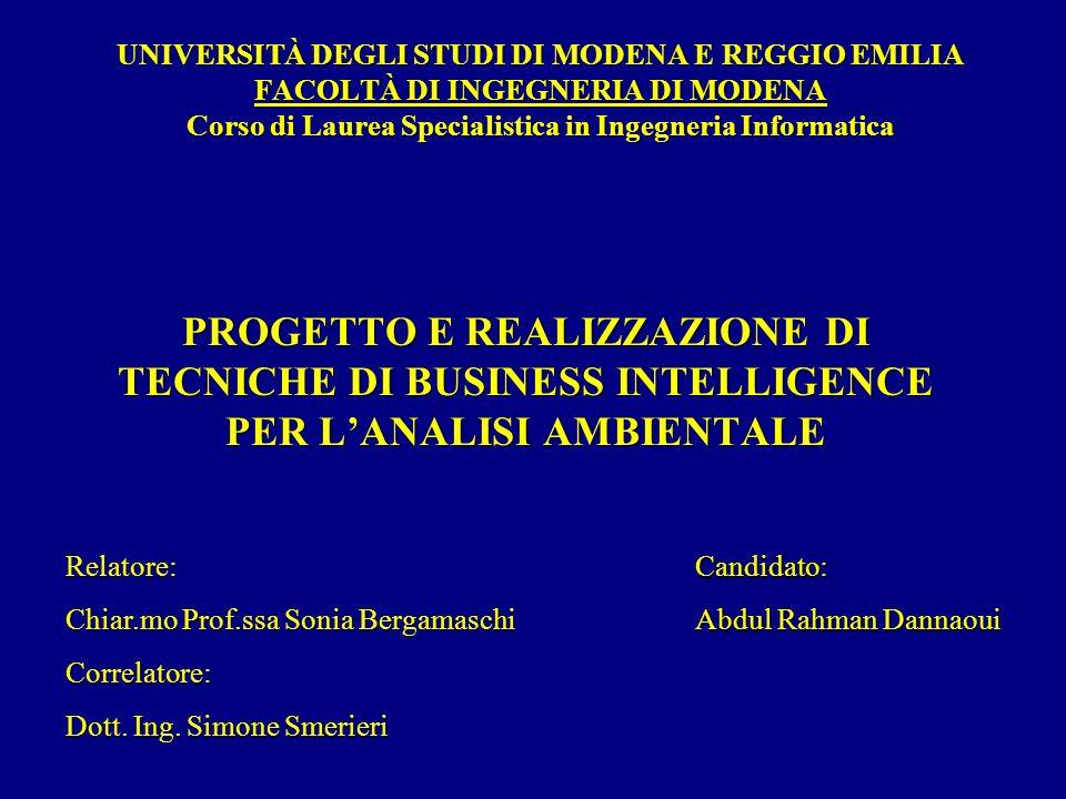 UNIVERSITÀ DEGLI STUDI DI MODENA E REGGIO EMILIA FACOLTÀ DI INGEGNERIA DI MODENA Corso di Laurea Specialistica in Ingegneria Informatica
