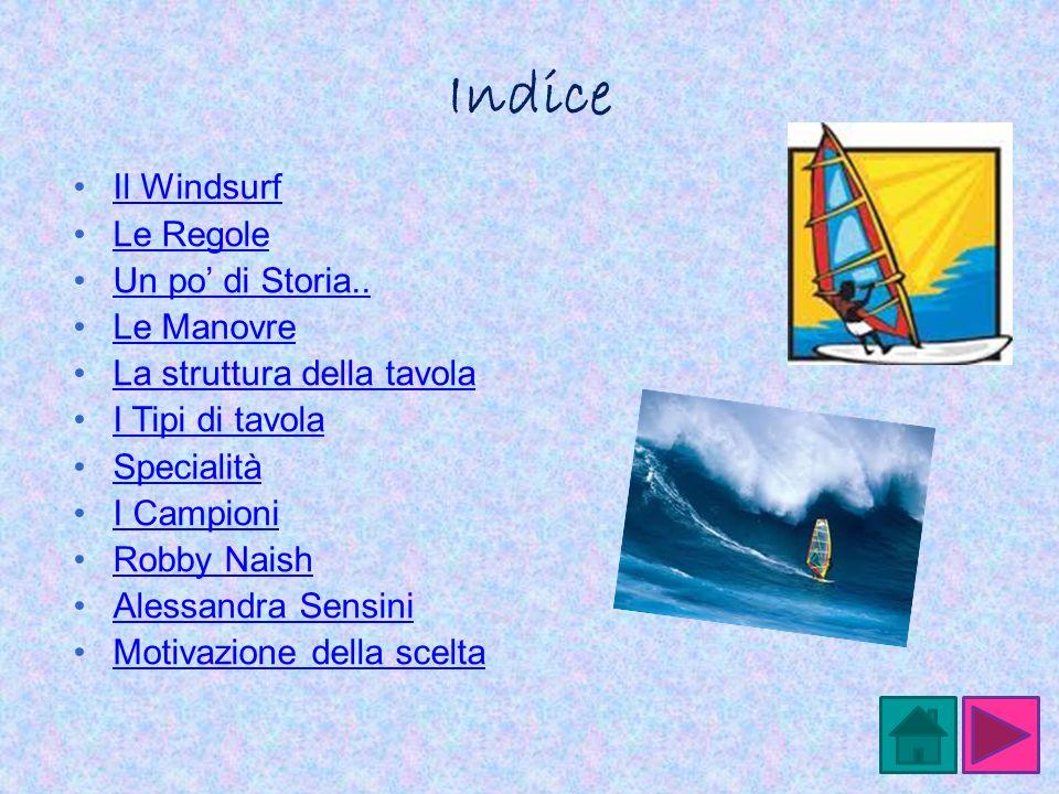 Indice Il Windsurf Le Regole Un po' di Storia.. Le Manovre