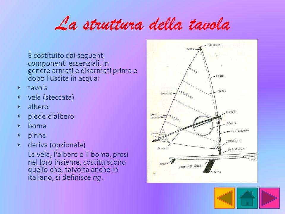 La struttura della tavola